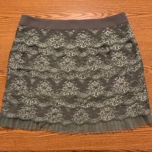 Fossil grey lace skirt